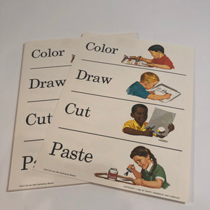 KIDS VINTAGE WORD TEACHING CARDBOARD