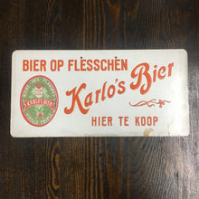 Load image into Gallery viewer, Old Karlo's Bier Op Flesschen SIGN, Beer, Flandres - TheBoxSF
