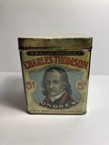 Charles Thompson Tobacco Tin