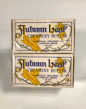 Load image into Gallery viewer, Antique AUTUMN LEAF Creamery Butter Packages || Two Shrink Wrapped Boxes