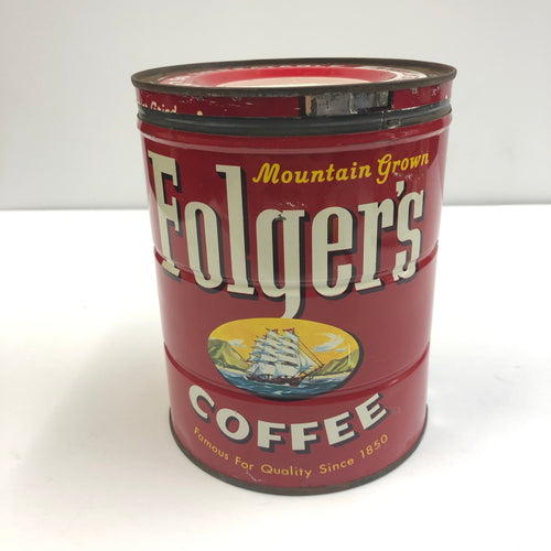 Vintage Folger's Red Coffee Tin