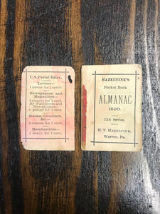 Vintage Hazeltine's Almanac for 1890 by G.W. Ammon & Co. - TheBoxSF