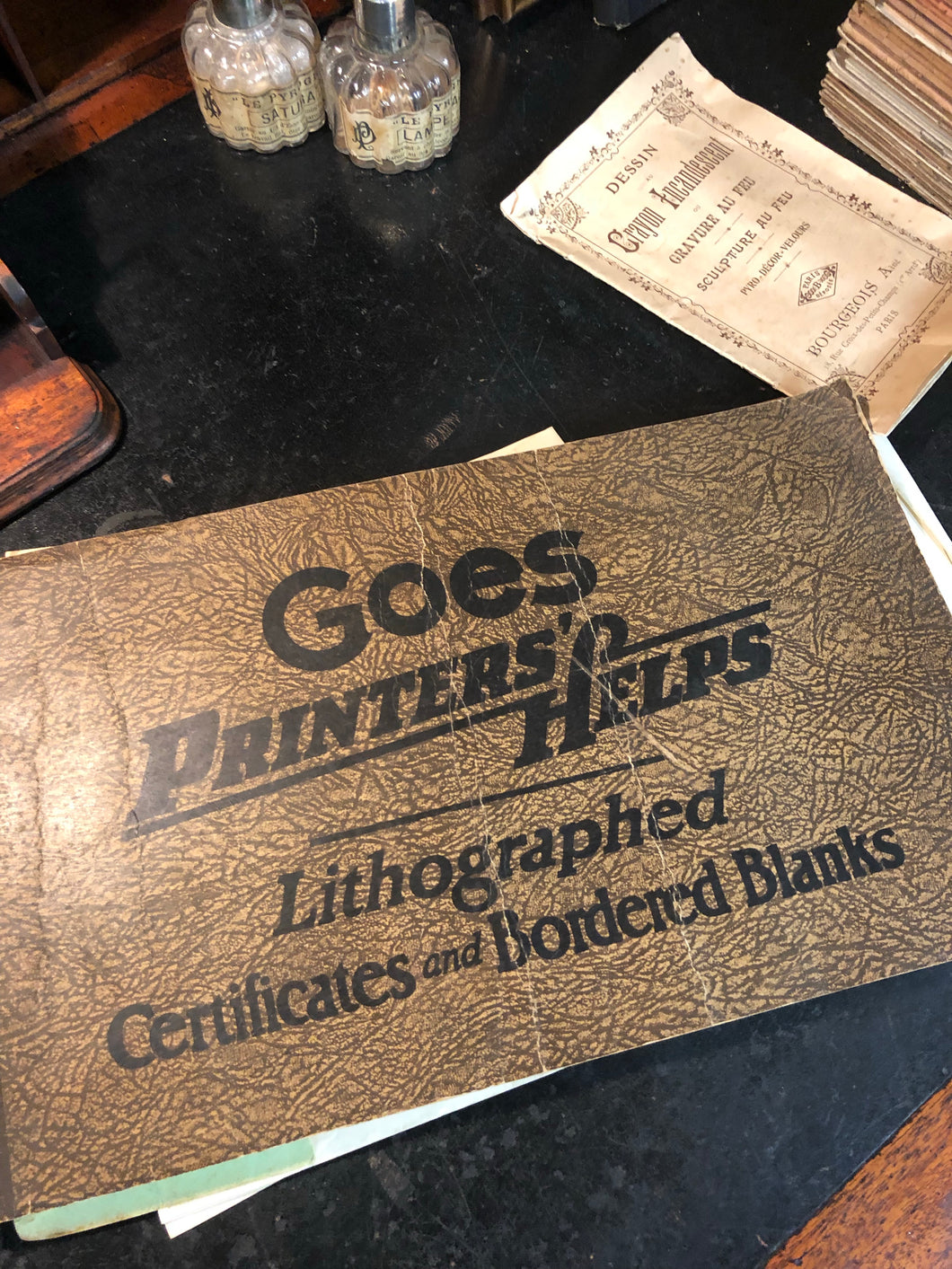 GOES PRINTER'S HELPS LITHOGRAPHED CERTIFICATES AND BORDERED BLANKS