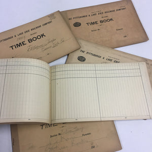Early Century Railroad time sheets--blank pages