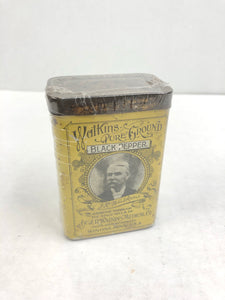 Vintage Walkins Pure Ground Black Pepper Can