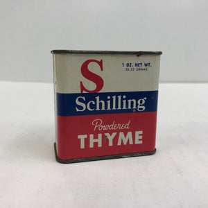 Vintage Schilling 1 oz Powered Thyme Can