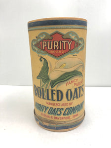 Vintage Purity Brand Rolled Oats can