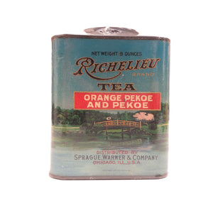 Vintage Richelieu Brand 8 oz Tea Can