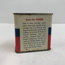 Load image into Gallery viewer, Vintage Schilling 1 oz Powered Thyme Can