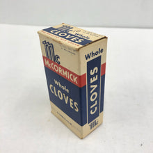 Load image into Gallery viewer, Vintage McCormick Whole Cloves Package Box