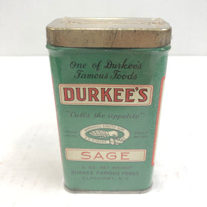 Vintage Durkee's Famous Food Sage Can