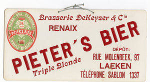 Pieter's Bier Triple Blonde SIGN || Beer, Flandres - TheBoxSF
