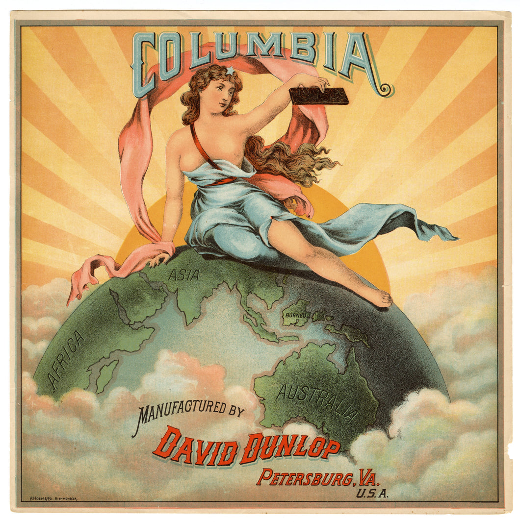 COLUMBIA Caddy Crate Label || David Dunlop, Old, Vintage - TheBoxSF