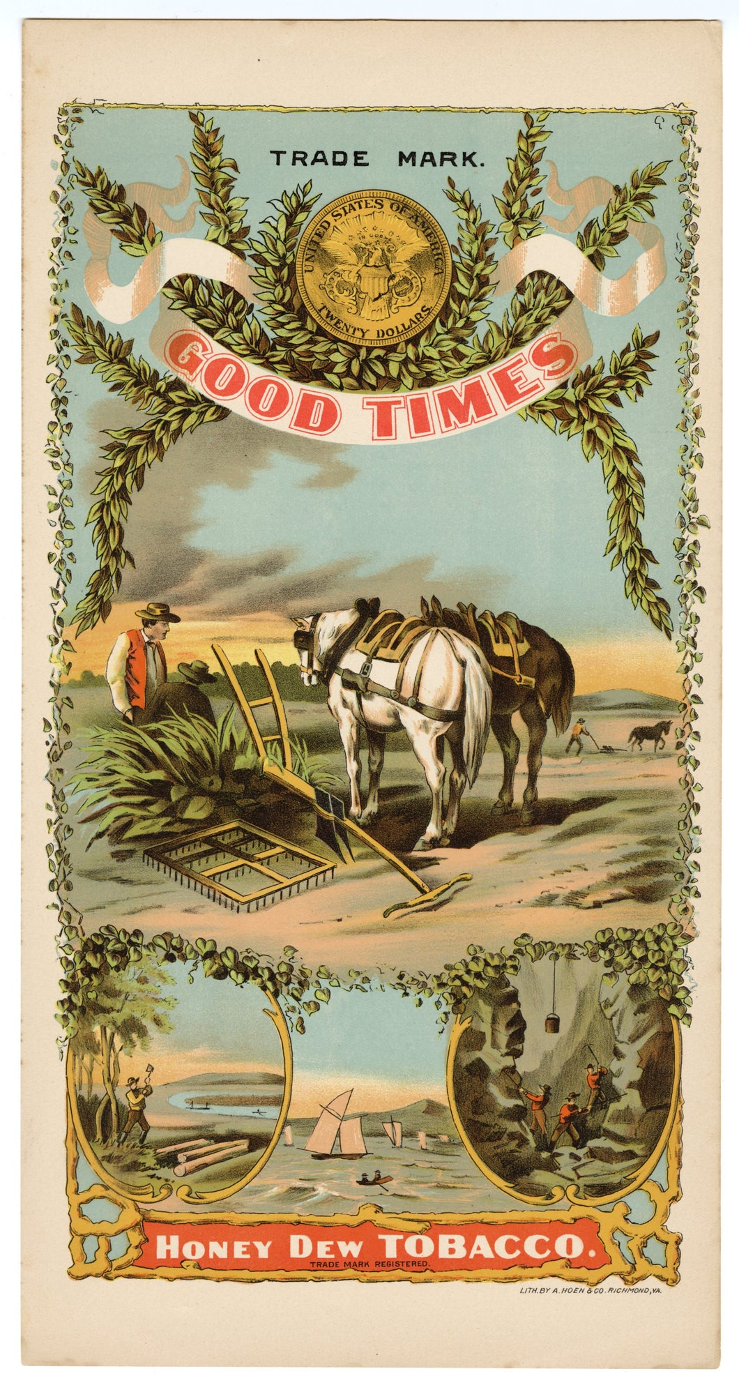 GOOD TIMES Caddy Crate Label || HONEY DEW CO., Old, Vintage, Horse - TheBoxSF