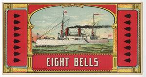 EIGHT BELLS Caddy Crate Label || A. Hoen & Co., Ship, Old, Vintage