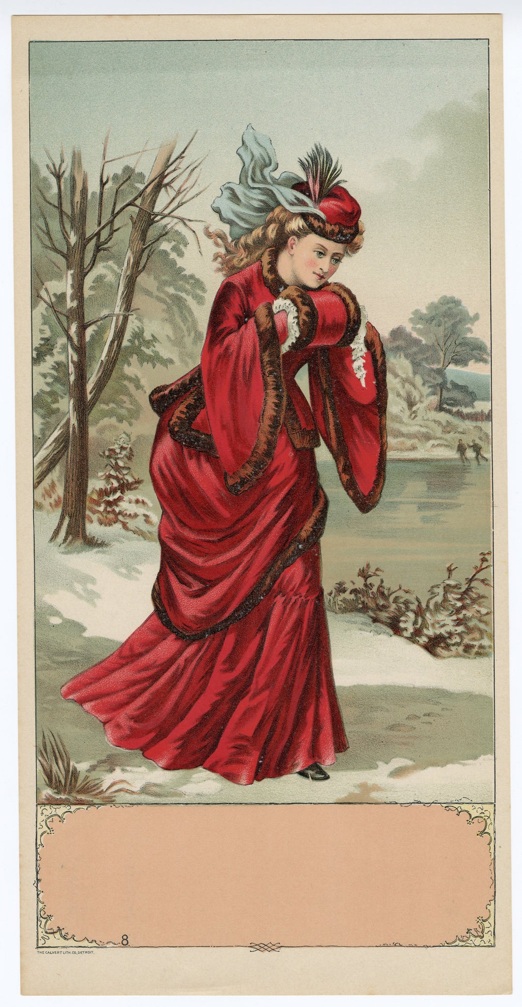 UNLABELED Caddy Crate Label || WOMAN, red DRESS, Winter, Old, Vintage