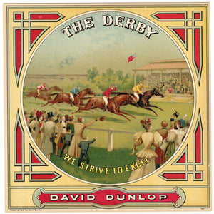 The DERBY Caddy Label || David Dunlop, Petersburg, Virginia, Old, Vintage - TheBoxSF