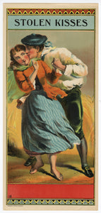 STOLEN KISSES Caddy Label || Calvert Co. Lithograph, Old, Vintage - TheBoxSF