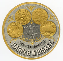 Load image into Gallery viewer, Celebrated HARPER WHISKEY Label || New Orleans and Chicago, Vintage