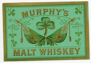 MURPHY'S MALT WHISKEY Label || Clover, Vintage