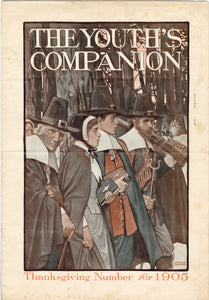 1905 THE YOUTH'S COMPANION THANKSGIVING Number, VOLUME 70 NO. 46 || Arthur E. Becher Cover