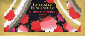 Vintage, Unused, French Art Deco VIBERT FRERES Brand Perfume Label