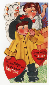 Assorted Unused 1950's VALENTINES with Envelopes || All Fired Up