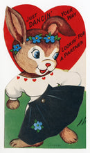 Load image into Gallery viewer, Assorted Unused 1950's VALENTINES with Envelopes || Dancin' Your Way