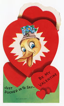 Load image into Gallery viewer, Assorted Unused 1950's VALENTINES with Envelopes || Just Ducked In