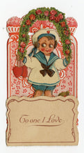 "Load image into Gallery viewer, Antique Pop-Out Diorama 1920's VALENTINE Card || ""I Continue True"""