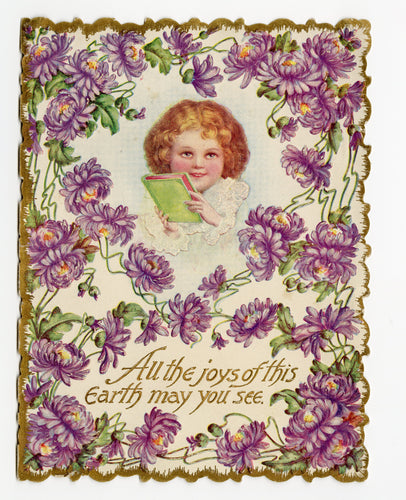 Antique 1910's VALENTINE'S DAY Card Featuring ART NOUVEAU Greeting ||