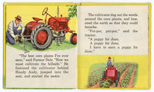 Load image into Gallery viewer, 1953 HANDY ANDY Tell-a-Tale Children's Picture Book || Farm, Tractor