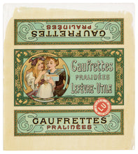 Load image into Gallery viewer, Rare ART NOUVEAU Lefevre-Utile Biscuit Label Illustrated by MUCHA