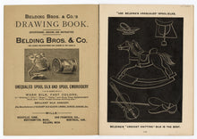 Load image into Gallery viewer, 1891 Slate Drawing Promotional Booklet, Belding Bros. & Co. Silk Manufacturers