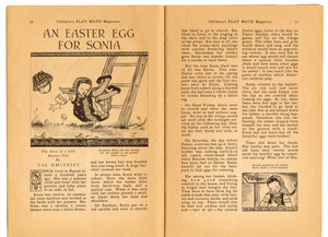 April 1946 Vintage Children's Playmate Magazine || Easter, Spring Issue