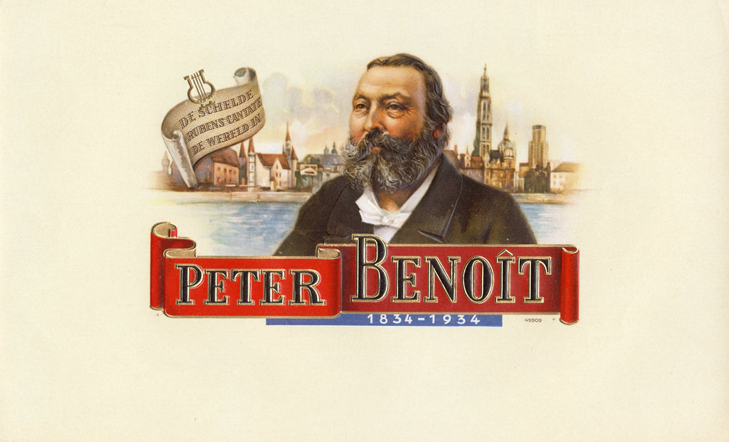 Antique Unused PETER BENOIT Cigar, Tobacco Label || Gold, Embossed