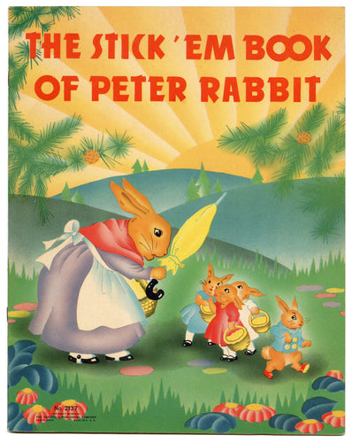 The Stick' em Book of Peter Rabbit  || Children's Arts and Crafts Book