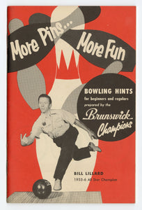 1956 Brunswick Collender Co. Bowling Hints Illustrated Pamphlet