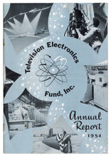 Load image into Gallery viewer, Vintage 1954 Television Electronics Fund Annual Report, Midcentury Modern Design