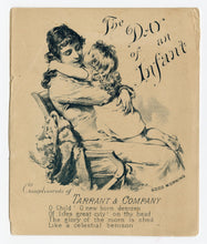 Load image into Gallery viewer, 1884 Tarrant's Seltzer Aperient, A Day of an Infant, Promotional Booklet