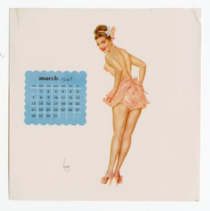 March 1948 Varga Pinup Girl Calendar Page