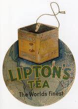 Load image into Gallery viewer, Antique Promotional Lipton's Tea Hanging Advertisement