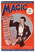 Load image into Gallery viewer, 1944 Vintage MAGIC TRICK Book, Children's Magazine, Tricks, Illusions