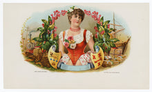 Load image into Gallery viewer, Antique, Unused Unnamed Tobacco Label Set, Lovely Victorian Woman, Industry