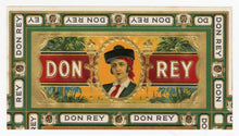 Load image into Gallery viewer, Antique, Unused DON REY Brand Cigar, Tobacco Caddy Crate Label SET
