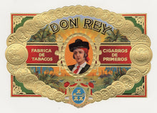Load image into Gallery viewer, Antique, Unused DON REY Brand Cigar, Tobacco Caddy Crate Label SET of Two