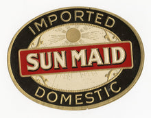 Load image into Gallery viewer, Antique, Unused SUN MAID Brand Cigar, Tobacco Caddy Crate Label SET of three