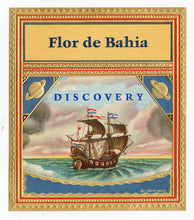 Load image into Gallery viewer, Antique, Unused FLOR DE BAHIA, DISCOVERY Brand Cigar, Tobacco Crate Label SET, Saturn, Ship