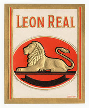 Load image into Gallery viewer, Antique, Unused LEON REAL Brand Cigar, Caddy Crate Label SET of Three