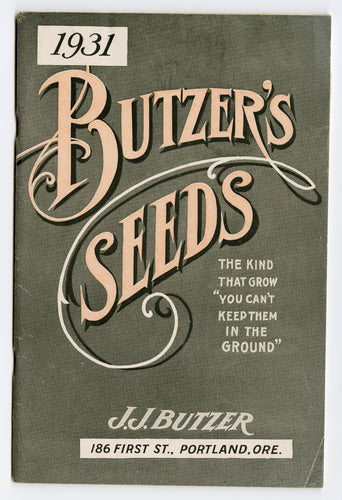 1931 Vintage BUTZER'S Seeds, Plants & Flowers Catalogue, Gardening, Farming